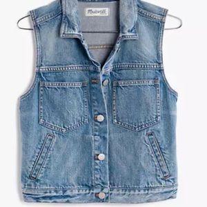 Madewell women's jeans vest denim